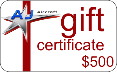 $500 AJ Aircraft Gift Certificate