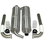 KS 3086 Canister Mufflers & 90mm Drop Headers for the DA 120