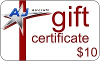 $10 AJ Aircraft Gift Certificate