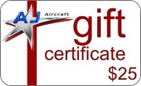 $25 AJ Aircraft Gift Certificate
