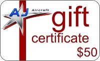 $50 AJ Aircraft Gift Certificate