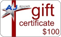 $100 AJ Aircraft Gift Certificate